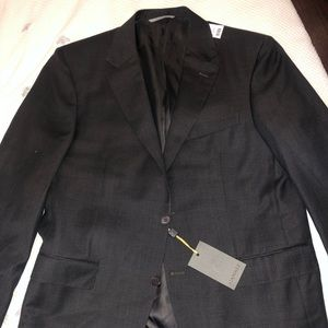 Canali Checkered Water Resistant 100% Wool Suit